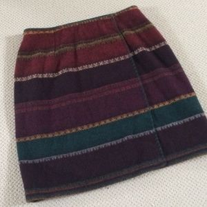 The Limited Wool Blend Wrap Skirt Size Large